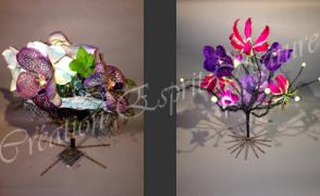 Éventail et arbre à fleurs
