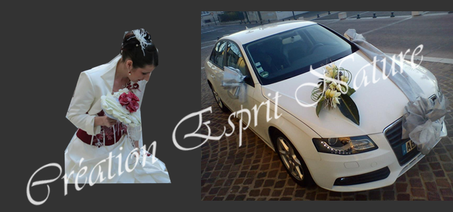 Mariage d'hiver de Coralie, coeur de pétales de lys blanc et roses pourpres givrées